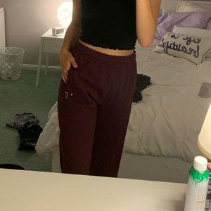 Burgundy Sweatpants